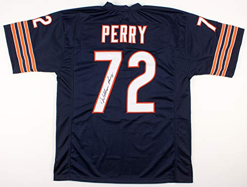 - William 'Refrigerator' Perry Signed Autographed Chicago Bears Blue Football Jersey - JSA COA