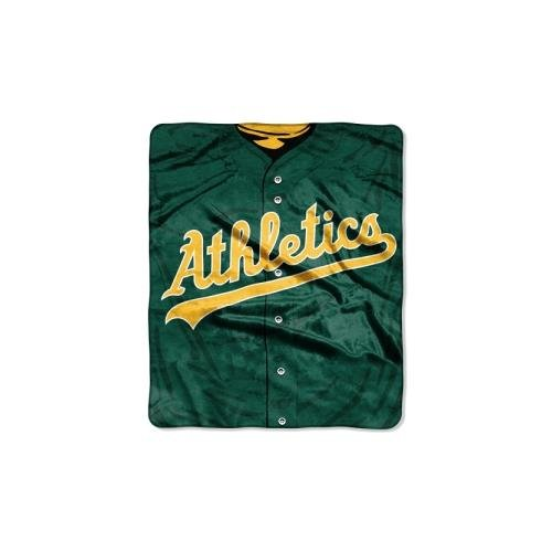 Oakland Athletics Blanket - MLB Oakland Athletics Jersey Plush Raschel Throw, 50