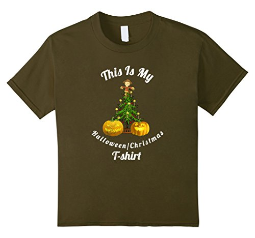 Kids This Is My Halloween slash Christmas tshirt Funny distressed 8 (Halloween Is Over Christmas Is Here)