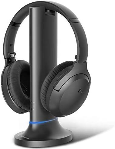 Avantree Opera Wireless Headphones for TV Watching w/Transmitter Charging Dock, Long Range Bluetooth 5.0 Headset, High Volume Ideal for Seniors, No Audio Delay, External Mic, TV Audio Mute Button