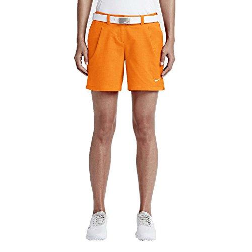 Nike Women's Dri-Fit Oxford Golf Shorts Vivid Orange 725763 868 (4 x 6)