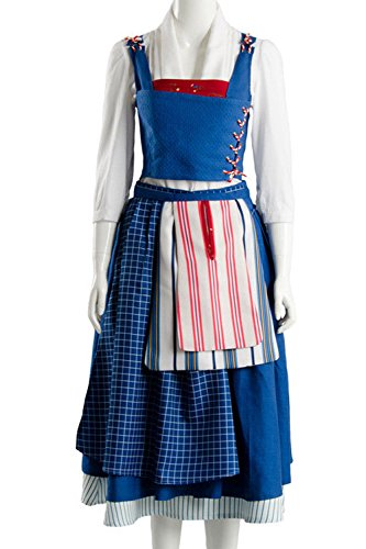SIDNOR Beauty The Beast Cosplay Costume Belle Dress Ball Gown Party Dress Up Suit Outfit Version