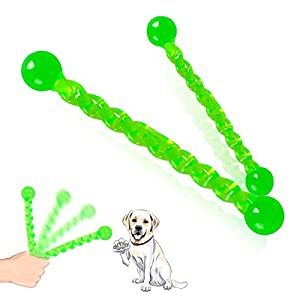 Dog Toys Fetch Sticks Chew Durable Rubber Dog Interactive Stick for Small to Medium Size Puppies & Adult Dogs Teeth Kailian 116