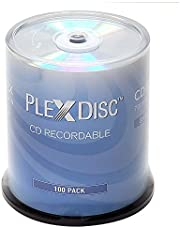 PlexDisc CD-R 700MB 80 Minute 52x Silver Top Recordable Disc - 100 Pack Spindle (FFP) - 631-105-BX