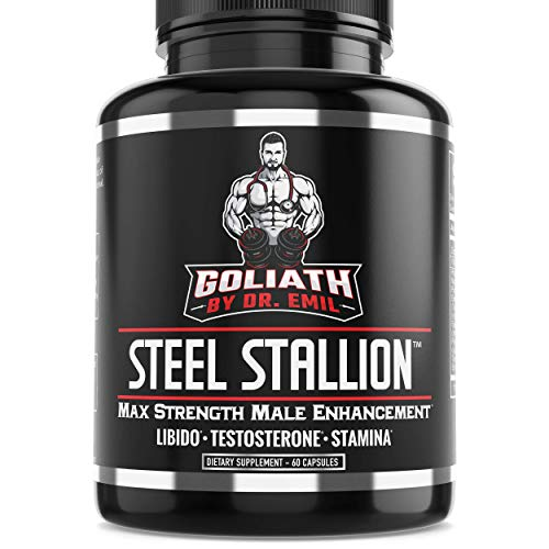 Goliath by Dr. Emil Steel Stallion - Male Enhancement Supplement - Libido & Testosterone Booster for Drive, Stamina, Muscle & Fat Loss (Yohimbe Enhanced Super Blend)