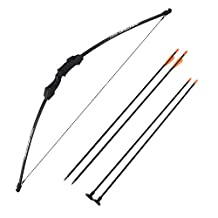 """Sinoart 45"""" Archery Bow and Arrow Set Start Recurve Bow Outdoor Sports Game Hunting Toy Gift Bow Kit Set with 4 Arrows 18 Lb for Teens"""