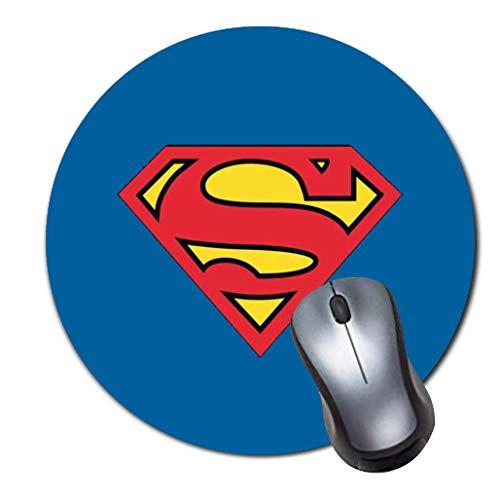 Round Gaming Mouse Pad Creative Custom Non Slip Rubber Mousepad Mat-Superman