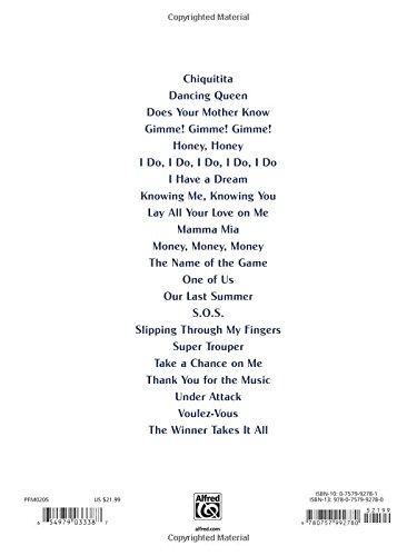 Mamma Mia Piano Vocal Chords Benny Andersson Bjorn Ulvaeus