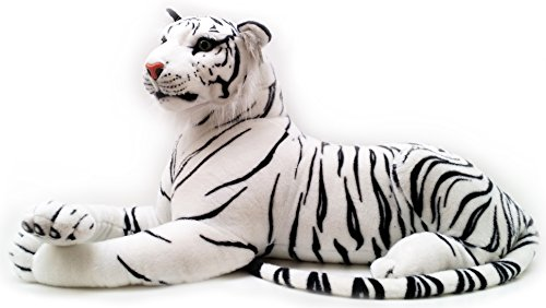 VIAHART Timurova The White Siberian Tiger | 4 Foot Long (Tail Measurement not Included!) Big Stuffed Animal Plush Cat | Shipping from Texas | by Tiger Tale Toys ()