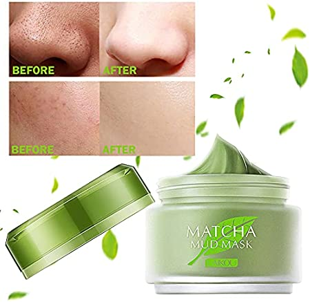 Mascarilla té Verde, Green Tea Cleansing Mask, Mascarilla Exfoliante, Mascarilla Facial de Limpieza Profunda, Anti Acné y Control de la Grasa, Suavizante e Hidratante Para la Piel