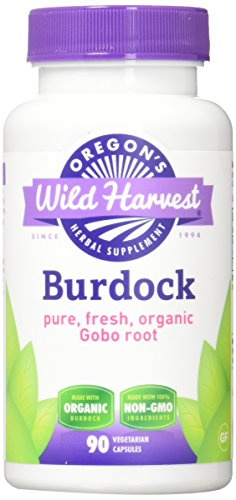 Oregons Wild Harvest Non-GMO Burdock Capsules, Organic Herbal Supplements (Packaging May Vary), 90 Count