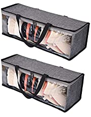 HYXITVCG 2 Packs Hat Organizer, Hat Storage for Baseball Caps, Hat Bag, Baseball Cap Organizer, Hat Holder Rack with 2 Carry Handles, Portable/Clear Visible/Dust Free, Holds Up to 19 Hats (Gray)