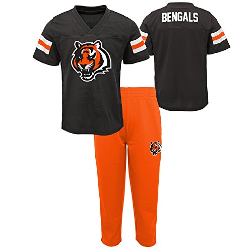 Outerstuff NFL NFL Cincinnati Bengals Toddler Training Camp Short Sleeve Top & Pant Set Black, 3T (Cincinnati Bengals Football Jersey)