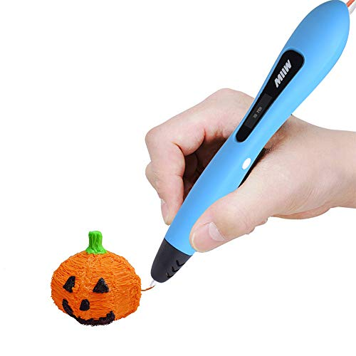 MIIW 3D Pen Printing Drawing Doodler Pens No Mess Non-Toxic With PCL Filament New Version Teen Boys &Girls Gifts For Brithday, Children Artists To Create Arts Crafts Best Kid Present,OLED Display Blue -