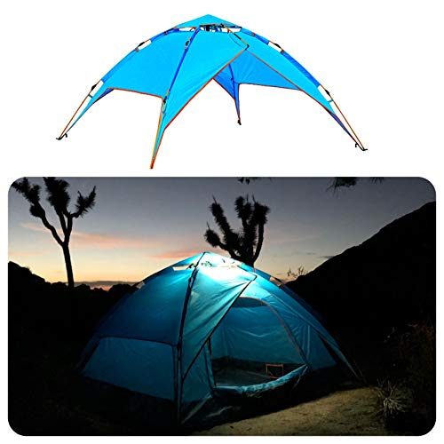 Pacific Stream Automatic Hydraulic Camping Tent for 2-3 Person Instant Pop Up Tent Portable Sun Shelter with Carrying Bag Lightweigt Tent Orange – Blue – Green – Rainbow Tent
