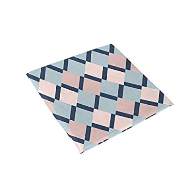 Bardic HNTGHX Outdoor/Indoor Chair Cushion Abstract Geometrical Square Memory Foam Seat Pads Cushion for Patio Dining, 16