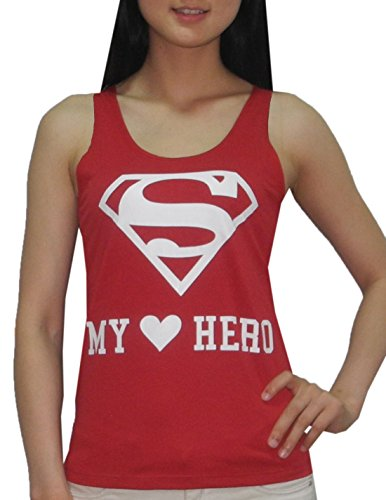 Superman+tank+tops Products : Womens DC COMICS SUPERMAN Crew-Neck Summer Sleeveless Shirt / Tank Top