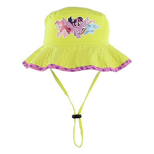 My Little Pony Girls Sun Boonie Hat with Twiling Sparkle, Pinkie Pie, and Rainbow Dash Characters -