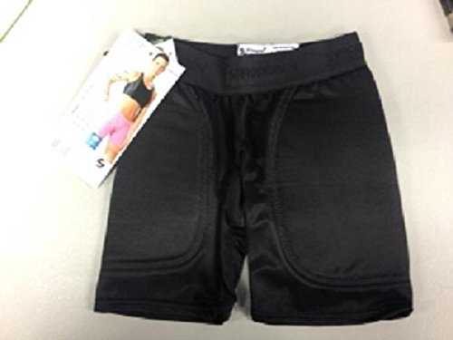 Stromgren Youth Patented Low Rise 5-Inch Inseam Sliding Short with Foam Pads (Black, (Rider Low Rise Shorts)