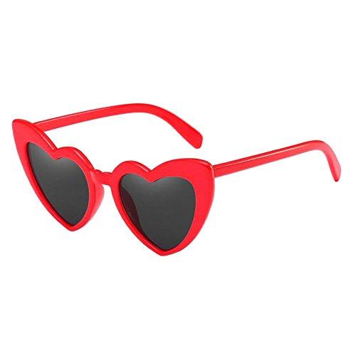 UV Rétro Protection Classique Oeil lunettes soleil Hzjundasi Love Heart Élégant de de Style Polarisé En Lunettes protectrices Lunettes Glasses chat Rouge forme de nTSxUwdx