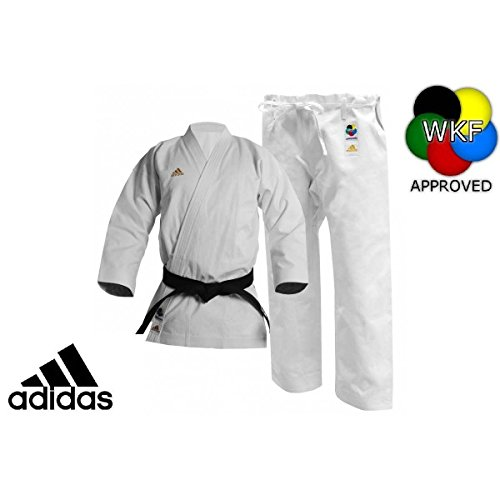 adidas Karate Competition Kigai Gi (White, 7.5)