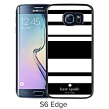 Fashionable Samsung Galaxy S6 Edge Case Design with Kate Spade 3 Black Skin