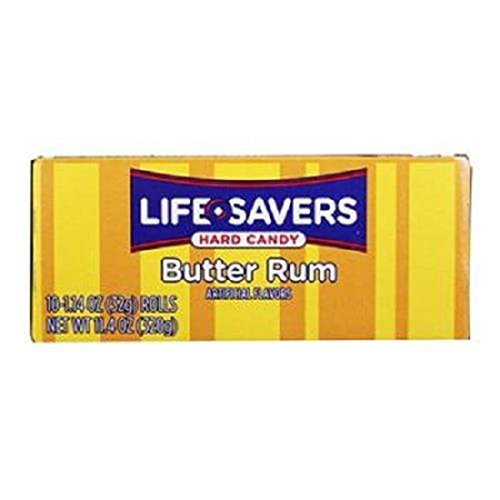 Product Of Lifesavers, Butter Rum - Roll, Count 20 (2.28 oz ) - Mints / Grab Varieties & Flavors - Lifesavers Candy Butter Rum