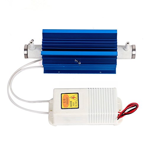 ELEOPTION Quartz Ozone Tube Ozone Generator Portable for Air Water Treatment Purifier USG with Power Supply 110V (3G/H)