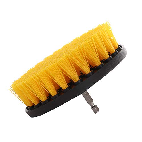 Jumpply 5 Inch Diameter Drill Powered Scrub Brush with Quarter Inch Quick Change Shaft ()