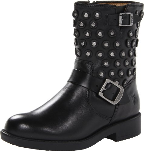 FRYE Jenna Disc Short J Boot (Little Kid/Big Kid),Black,1.5 M US Little Kid