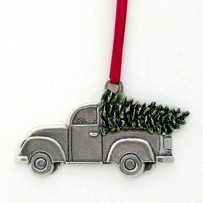 "DANFORTH - A Keeper 2013 Annual Ornament - 2 3/8"" Wide - Pewter - Satin Ribbon - Handcrafted - USA"