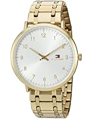 Tommy Hilfiger Mens SOPHISTICATED SPORT Quartz Tone and Gold Plated Casual Watch(Model: 1791337)