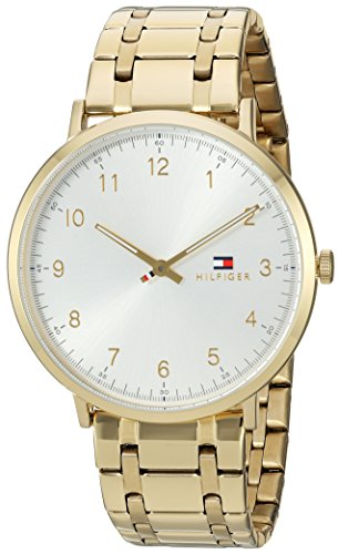 'Sophisticated Sport' Quartz Tone and Gold Plated Casual Watch(Model: 1791337) (Tommy Hilfiger Water Resistant Bracelet)