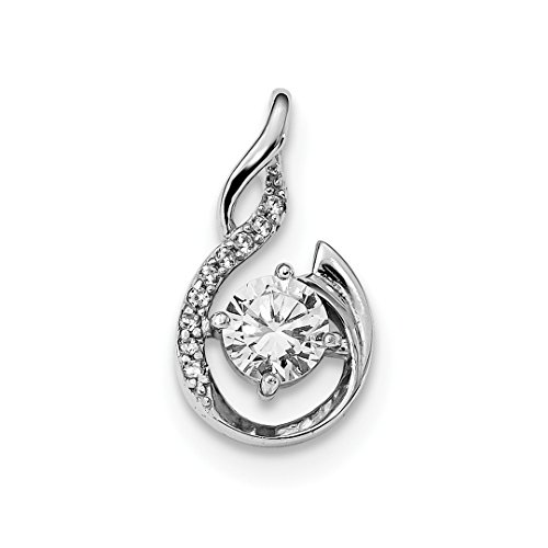 ICE CARATS 925 Sterling Silver Cubic Zirconia Cz Pendant Charm Necklace Slide Omega Fine Jewelry Ideal Mothers Day Gifts For Mom Women Gift Set From Heart Slide Pendant Set