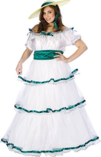 Southern Belle Adult Costume Plus Size White -