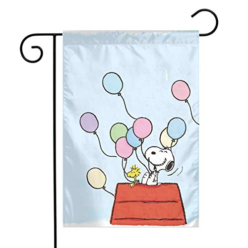 LIUYAN Garden Flag - Snoopy Birthday Unique Decorative Outdoor Yard Flags for Your Home 12 X 18 Inches ()