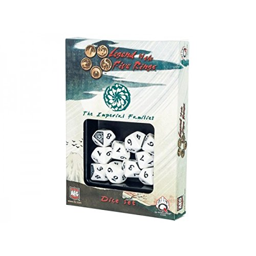 L5R: Imperial Families Clan Dice Set (10 Stuck - W10) Board Game by Q Workshop