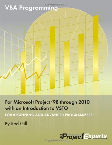 VBA Programming for Microsoft Project '98 through 2010 with an Introduction to VSTO by Chefetz LLC
