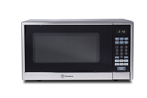 Microwave Oven Compact Countertop Electric Black & Stainless Steel 1000 Watt 1.1 cu. ft. Cookware by HW
