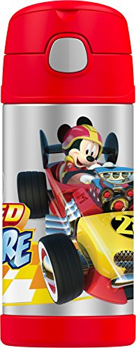 Mickey Mouse Water Bottle (Thermos Funtainer 12 Ounce Bottle, Mickey Mouse)