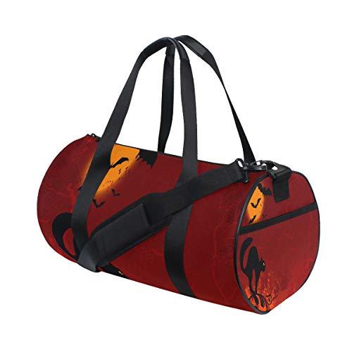 Gym Bag Halloween Cute Clip Art Duffel Bag Sport&Travel Lightweight for Men/Women