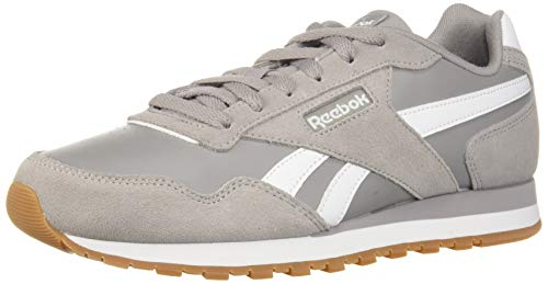 (Reebok Men's Classic Harman Run Sneaker, Powder Grey/White/Gum, 10.5 M)