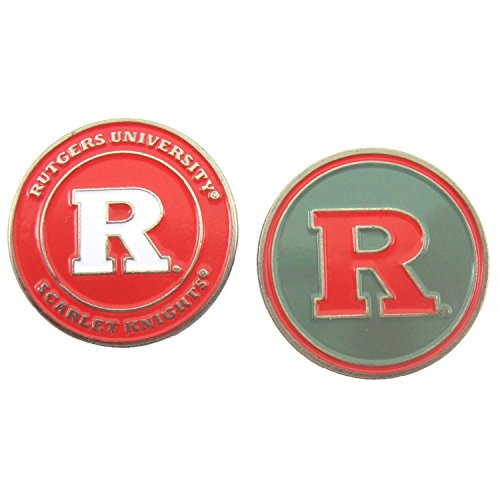 Rutgers Scarlet Knights Double Sided Golf Ball Marker