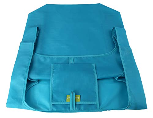Reusable Grocery Bags Set of 5, Grocery Tote Foldable into Attached Pouch, Ripstop Polyester Reusable Shopping Bags, Washable, Durable and Lightweight (Royal,Purple,Pink,Orange,Teal) by BeeGreen (Image #8)