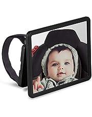 Wicked Chili Baby Auto Spiegel I XXL Easy View Rückspiegel I Baby Auto Sicherheitsspiegel für Reboarder, Babyschale und Kindersitze (Universal, bruchsicher, 360° drehbar 15° neigbar) schwarz
