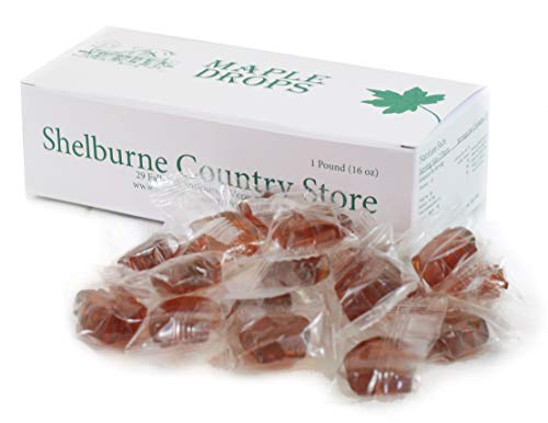 Maple Drops Hard Candies Made With Real Syrup - 1 Pound (Maple Candy)
