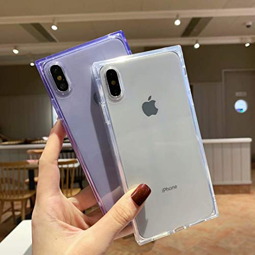 Facweek iPhone Xs Max Square Cases for Women,Clear iPhone Xs Max Transparent Cases Reinforced Corners Soft TPU Cushion…
