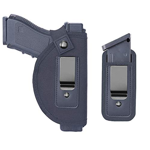 Tenako Universal IWB Holster Magazine Pouch for Concealed Carry Inside The Waistband Fits Firearms Glock 19 17 26 27 43 S&W M&P Shield 9/40 1911 Taurus PT111 G2 Sig Sauer Ruger