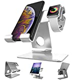 Apple Watch Stand, ZVEproof 2 in 1 Universal Desktop Cellphone Stand and Apple Watch Stand (Silver, Stand-42-Case)