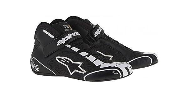 6b12ece889ac1 Alpinestars 2712113-182-7 Tech 1-KX Shoes, Black/White, Size 7
